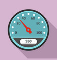 blue speedometer icon flat style vector image vector image