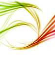 Bright fresh swoosh lines abstraction vector image vector image