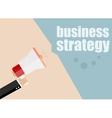 business strategy Megaphone Flat design vector image vector image