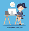 business woman success vector image vector image