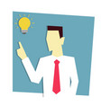 businessman has business idea business idea vector image