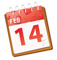 calendar february red vector image vector image