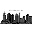 canada vancouver architecture city skyline vector image vector image