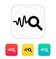 Cardiogram monitoring icon vector image
