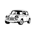classic car line art outline car vector image vector image