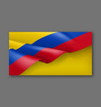 colombian patriotic festive banner with flag vector image vector image