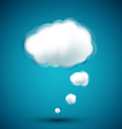 computer cloud on blue background vector image