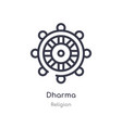 dharma outline icon isolated line from religion vector image vector image