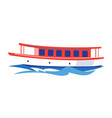 excursion ship on the water vector image