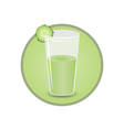 glass of cucumber juice vector image vector image