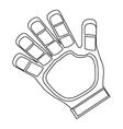 goalkeeper glove icon vector image