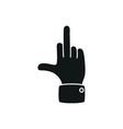 hand showing middle finger up you or off vector image vector image