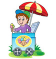 happy ice cream man vector image