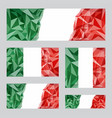 italian flags set vector image