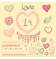 large creative set of Valentines day vector image vector image