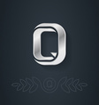 Letter Q Template for company logo with monogram vector image vector image