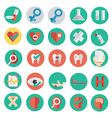 medical icon in flat design SET 2 vector image