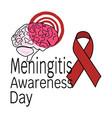 meningitis awareness day schematic representation vector image vector image