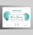 modern creative certificate of appreciation vector image vector image