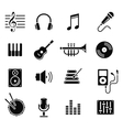 music and multimedia icons vector image vector image