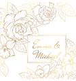 narcissus daffodil rose flowers corner frame vector image