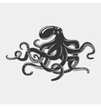 Octopus with tentacles and arms with suction cups vector image vector image