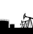 oil pump jack for petroleum and reserve tanks vector image vector image