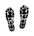 pair footprints human shoes silhouette shoe soles vector image vector image