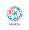 paradise - summer travel vacation business vector image vector image