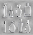 perfume glass bottles realistic transparent vector image vector image