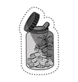 pills medical care icon vector image vector image