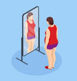 problem excess weight and health isometric fat vector image