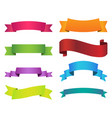 ribbon set color on white background vector image vector image