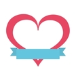 romantic heart isolated icon design vector image vector image