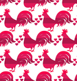 Rooster pattern3 vector image