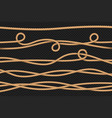rope borders cord threads twisted ropes texture vector image