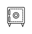 safe box financial business cash money line design vector image