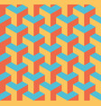 seamless 3d geometrical pattern of overlapping vector image vector image
