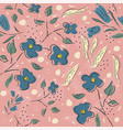 seamless floral pattern hand drawn vector image