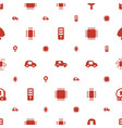 semiconductor icons pattern seamless white vector image vector image