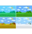 Set forest landscapes seasons vector image vector image