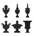 set of classic urns planters vector image vector image