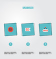 set of magazine icons flat style symbols with vector image
