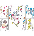 Set of playing joker cards vector image vector image
