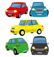 set toy cars vector image vector image