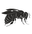 silhouette of bee