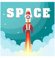 space rocket launch in space background ima vector image vector image