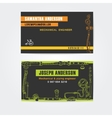 Steampunk style business cards design steampunk vector image vector image