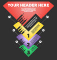 step step infographics vector image vector image