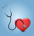 Stethoscope And Heart vector image